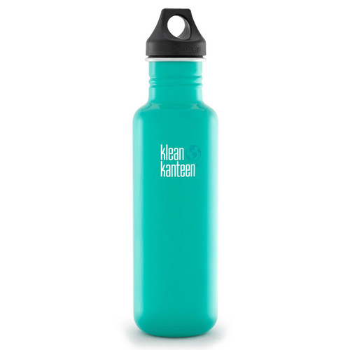 Klean Kanteen Classic Stainless Steel Water Bottle with Loop Cap (27 fl oz, Tidal Pool)