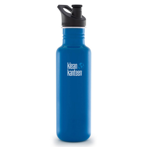 Klean Kanteen Classic Stainless Steel Water Bottle with Sport Cap (27 fl oz, Blue Planet)