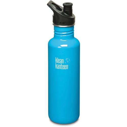 Klean Kanteen Classic 27 oz Stainless Steel Water Bottle with Sport Cap (Channel Island)