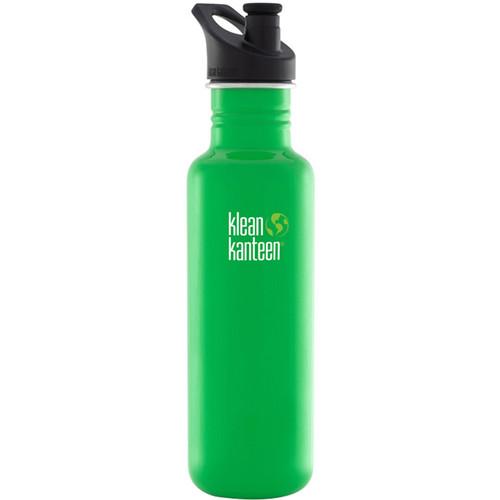 Klean Kanteen Classic Stainless Steel Water Bottle with Sport Cap (27 fl oz, Organic Garden)