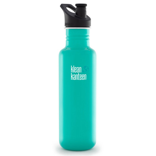 Klean Kanteen Classic Stainless Steel Water Bottle with Sport Cap (27 fl oz, Tidal Pool)