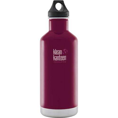 Klean Kanteen Vacuum Insulated Classic Water Bottle (32 fl oz, Beet Root)