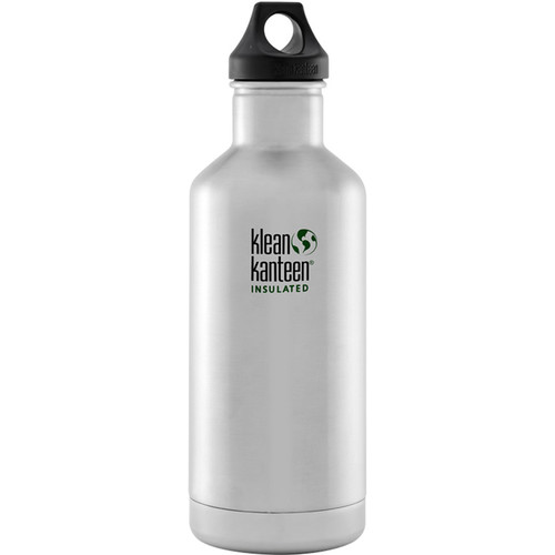 Klean Kanteen Vacuum Insulated Classic Water Bottle (32 fl oz, Brushed Stainless)