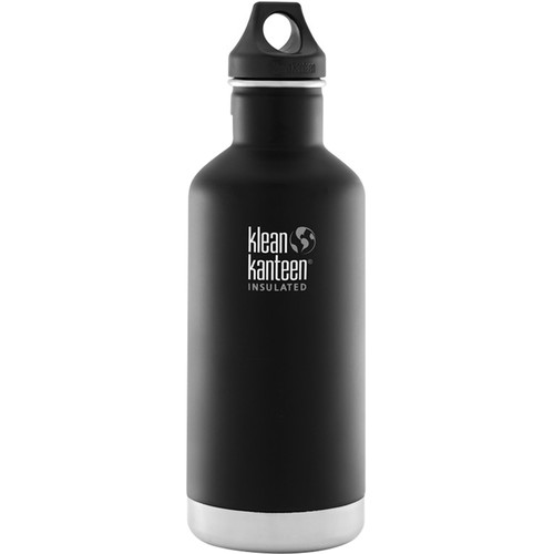Klean Kanteen Vacuum Insulated Classic 32 oz Water Bottle (Shale Black)