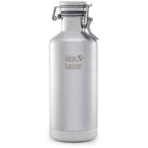 Klean Kanteen Vacuum Insulated Growler Water Bottle (32 fl oz, Brushed Stainless)