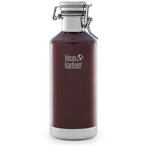 Klean Kanteen Vacuum Insulated Growler Water Bottle (32 fl oz, Dark Amber)