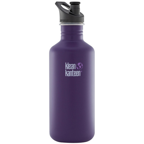 Klean Kanteen Classic Stainless Steel Water Bottle with Loop Cap (40 fl oz, Berry Syrup)