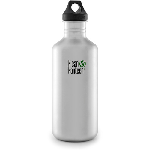 Klean Kanteen Classic Stainless Steel Water Bottle with Loop Cap (40 fl oz, Brushed Stainless)