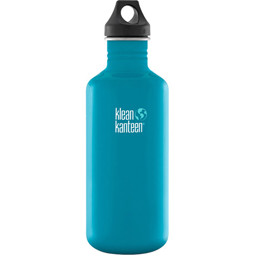Klean Kanteen Classic Stainless Steel Water Bottle with Loop Cap (40 fl oz, Channel Island)