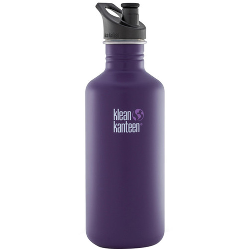 Klean Kanteen Classic Stainless Steel Water Bottle with Sport Cap (40 fl oz, Berry Syrup)
