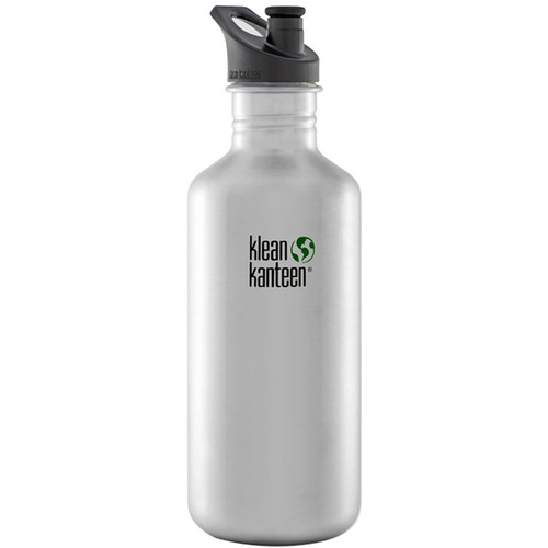 Klean Kanteen Classic Stainless Steel Water Bottle with Sport Cap (40 fl oz, Brushed Stainless)