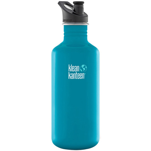 Klean Kanteen Classic Stainless Steel Water Bottle with Sport Cap (40 fl oz, Channel Island)