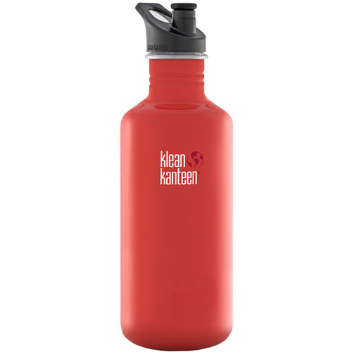 Klean Kanteen Classic Stainless Steel Water Bottle with Sport Cap (40 fl oz, Flame Orange)