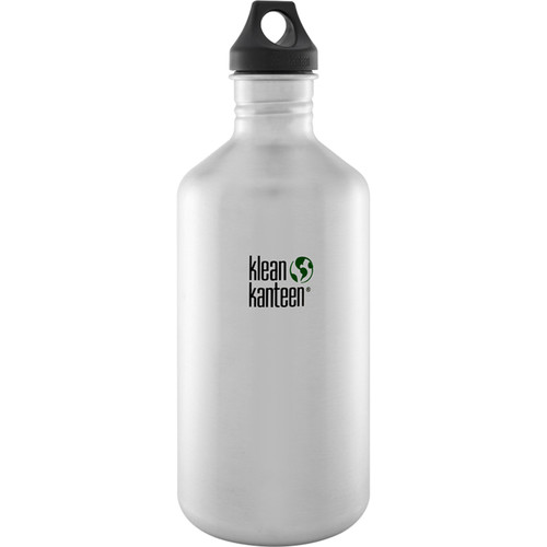 Klean Kanteen Classic Stainless Steel Water Bottle with Loop Cap (64 fl oz, Brushed Stainless)