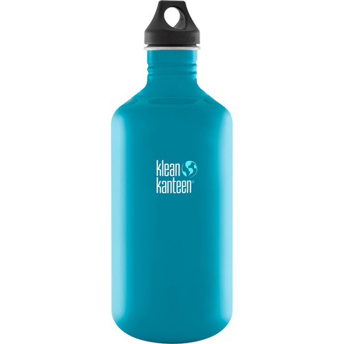 Klean Kanteen Classic 64 oz Stainless Steel Water Bottle with Loop Cap (Channel Island)