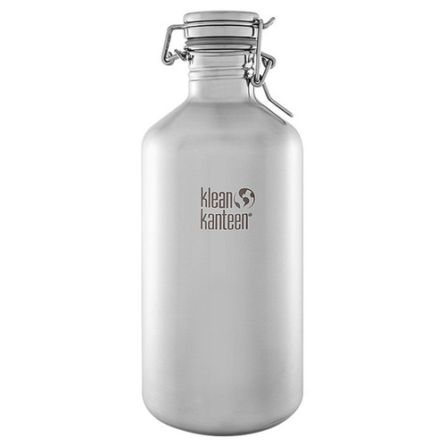 Klean Kanteen Growler Water Bottle (64 fl oz, Brushed Stainless)