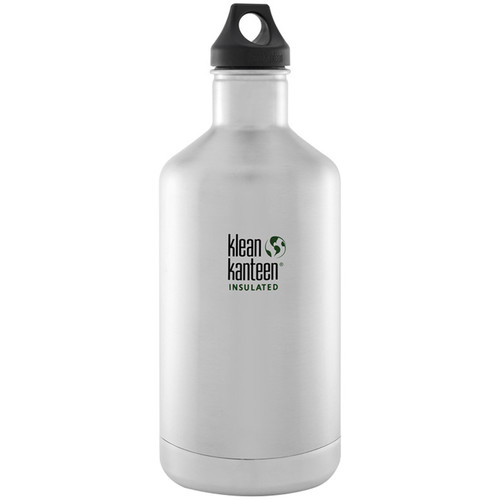 Klean Kanteen Vacuum Insulated Classic 64 oz Water Bottle (Brushed Stainless)