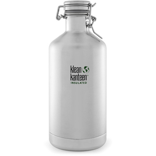 Klean Kanteen Vacuum Insulated Growler Water Bottle (64 fl oz, Brushed Stainless)