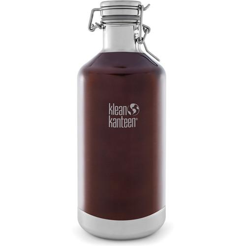Klean Kanteen Vacuum Insulated Growler Water Bottle (64 fl oz, Dark Amber)