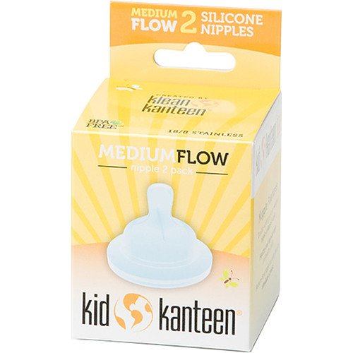 Klean Kanteen Kid Kanteen Medium Flow Baby Nipple (2-Pack)