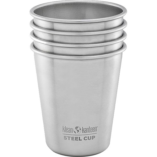 Klean Kanteen Steel Pint Cup (10 fl oz, 4-Pack)