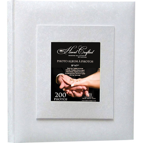 "Kleer Vu 200 Photo 5x7"" Wedding Photo Album (White)"