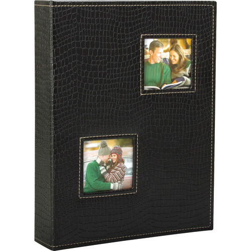 "Kleer Vu Croco Collection Photo Album, Holds 200 5x7"" Photos"