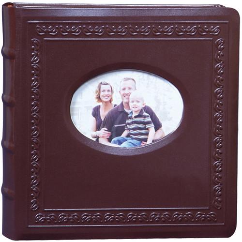 Kleer Vu 200 Photo 4x6 Genuine Leather Photo Album (Brown)
