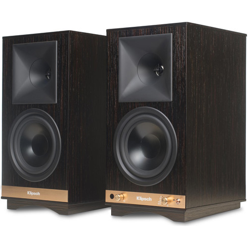 Klipsch The Sixes 2-Way Powered Bookshelf Loudspeakers (Ebony, Pair)