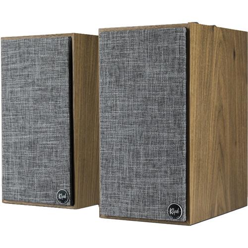 Klipsch The Fives Heritage Wireless 2-Way Powered Bluetooth Bookshelf Speakers (Walnut, Pair)