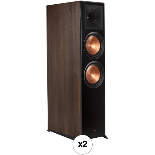 Klipsch Reference Premiere RP-8060FA 2-Way Floorstanding Speaker with Dolby Atmos Height Channel Pair Kit (Walnut)