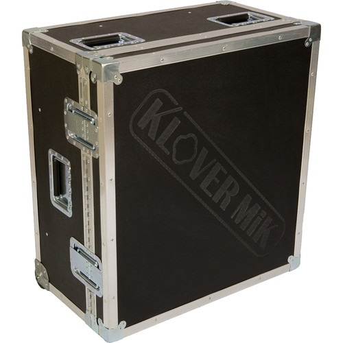 Klover Road Case for Two KM-26 Parabolic Microphones with Handle and Wheels