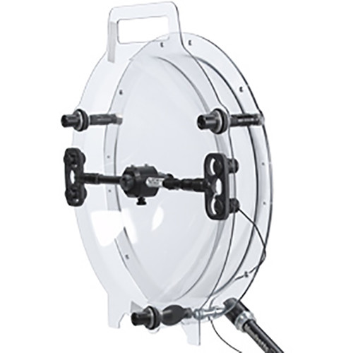 "Klover MiK 16 Sound Shield Parabolic Collector Dish for Lavalier and Small-Diaphragm Microphones (16"", Shielded Mounting Bracket)"