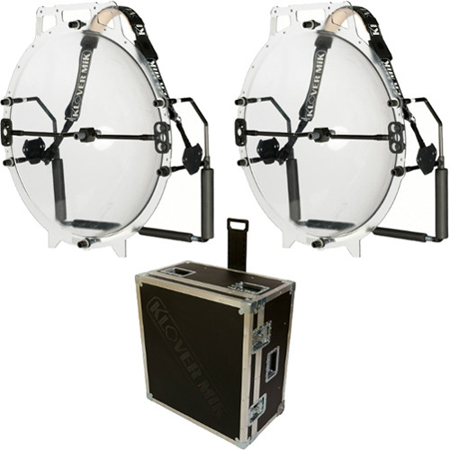 Klover Dual MiK 26 Parabolic Microphone Collectors with Road Case