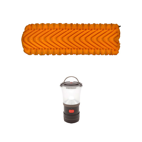 Klymit Klymit Insulated Static V Lite Sleeping Pads (2) and LED Lantern