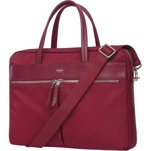 "KNOMO USA 14"" Hanover Laptop Bag (Cherry)"