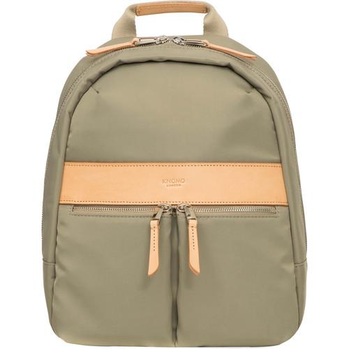 "KNOMO USA Mini Beauchamp Backpack for 10"" Tablet (Olive)"