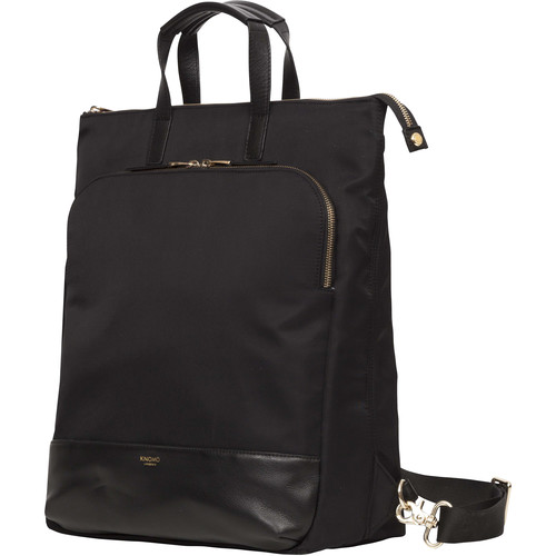 "KNOMO USA Harewood Laptop Tote Backpack 15"" (Black)"
