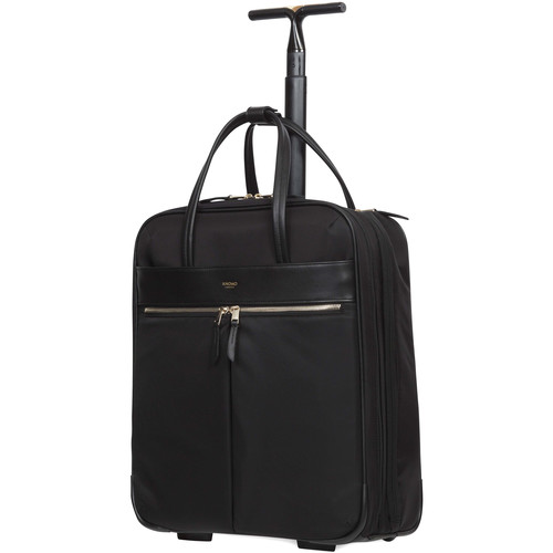 "KNOMO USA Burlington Wheeled Business Bag for 15"" Laptop (Black)"