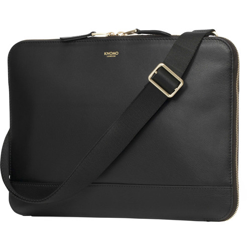 "KNOMO USA Mason Leather Clutch Bag for 12"" Tablet (Black)"