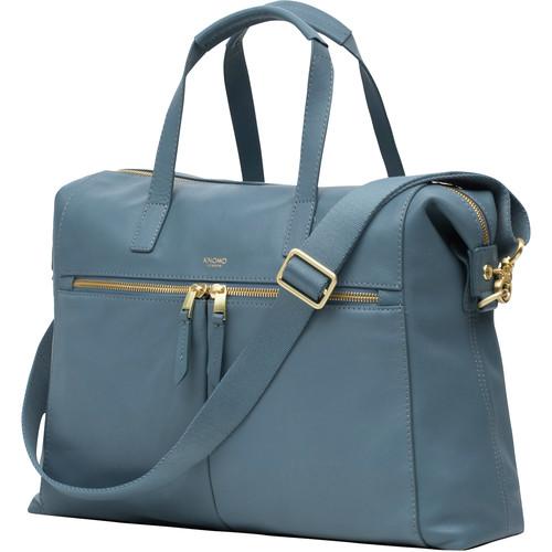 "KNOMO USA 14"" Audley Laptop Handbag (Stonewash Blue)"