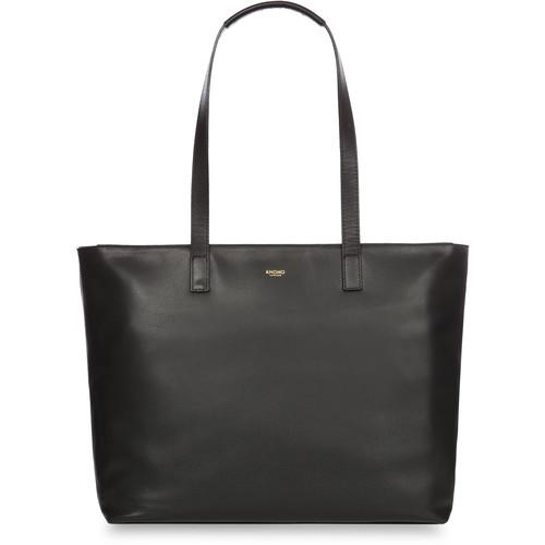 "KNOMO USA Maddox Leather Laptop Tote Bag 15"" (Black)"