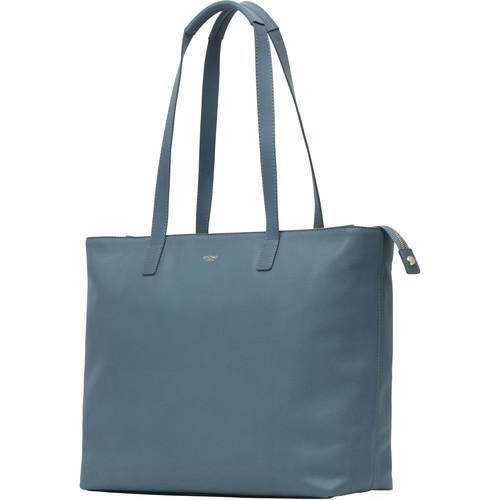 "KNOMO USA Maddox Leather Laptop Tote Bag 15"" (Stonewash Blue)"