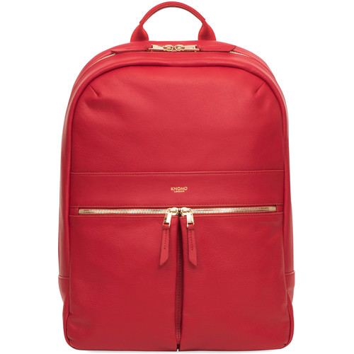 """KNOMO USA Beaux Leather Backpack for 14"""" Laptop (Chilli)"""
