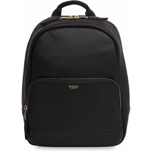 """KNOMO USA Mini Mount Small Leather Backpack for 10"""" Tablet (Black)"""