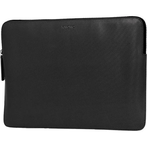 "KNOMO USA 13"" Embossed Laptop Sleeve (Black)"
