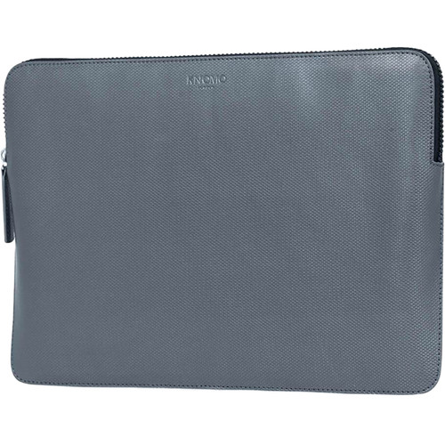 "KNOMO USA 12"" Embossed Laptop Sleeve (Silver)"