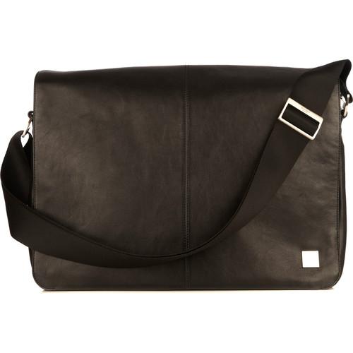 "KNOMO USA Bungo Expandable Messenger Bag for 15.6"" Laptop (Black)"