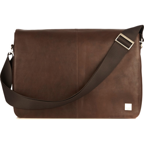 "KNOMO USA Bungo Expandable Messenger Bag for 15.6"" Laptop (Brown)"