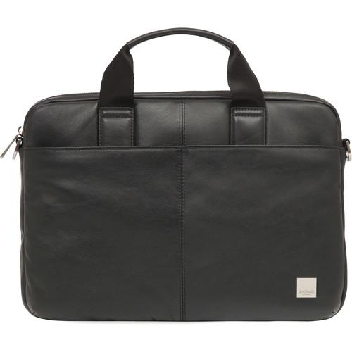 "KNOMO USA 13"" Stanford Leather Laptop Briefcase (Black)"